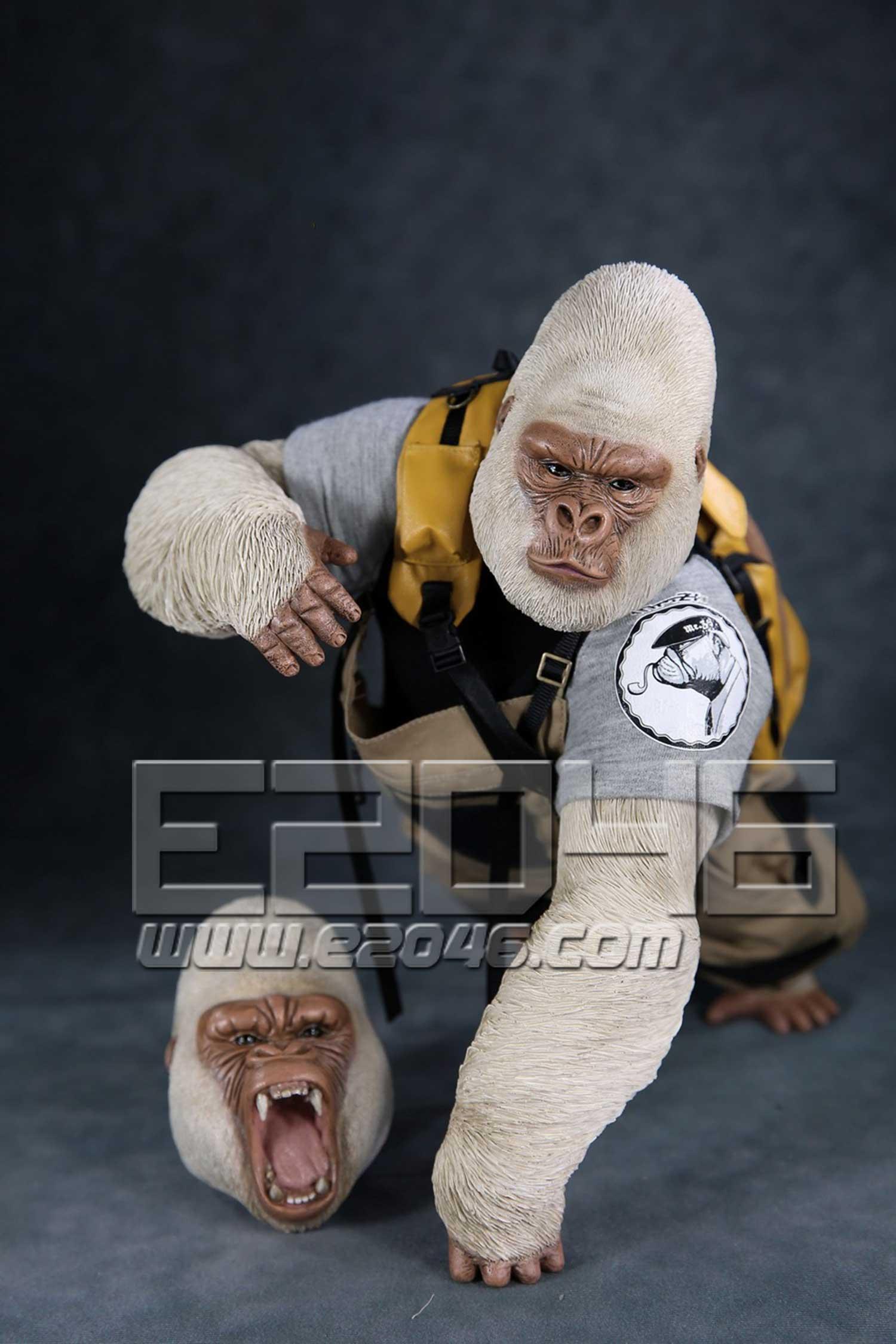 Gorilla  Beringei  Graueri White (DOLL)