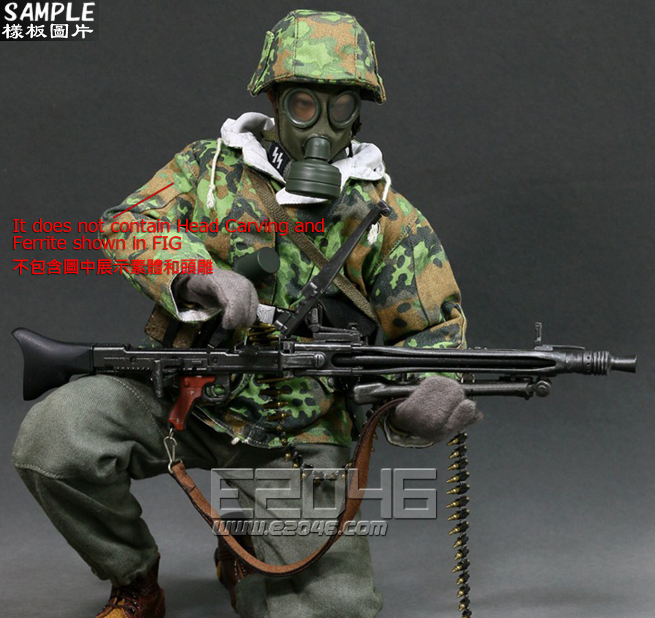 WWII Germany SS MG42 Machine Gunner Set (Doll)