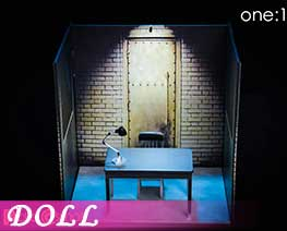 DL1992 1/12 Interrogation Room Scene Set (DOLL)