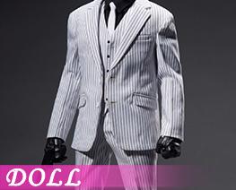 DL5082 1/6 白條紋西裝配飾套裝(人偶)