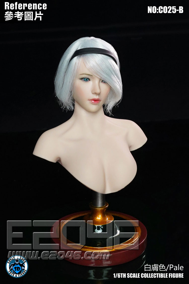 Female Bust Stand Pale (DOLL)