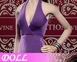 DL0521 1/6 Ladies sexy low-cut halter dress suit D (Doll)
