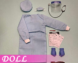 DL3338 1/6 Male Isolation Gown (DOLL)