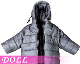 DL3406 1/6 Hoodie Long Down Coat Light Grey (DOLL)