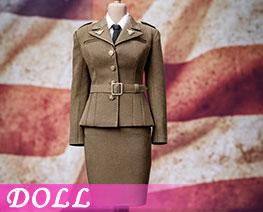 DL2445 1/6 二战美军女特工制服套装 (人偶)