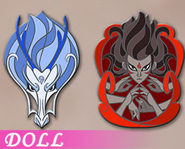 DL2854  Alloy Enamel Badge A (DOLL)
