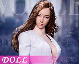 DL1648 1/6 Fashionable deep V-Necktrench coat suit A (DOLL)