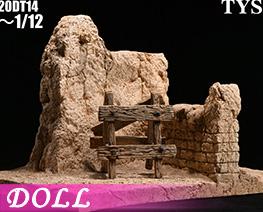 DL4087  Earth Wall Ruins Scene (DOLL)