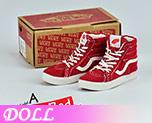 DL0711 1/6 滑板鞋烈焰紅絨面版 (人偶)