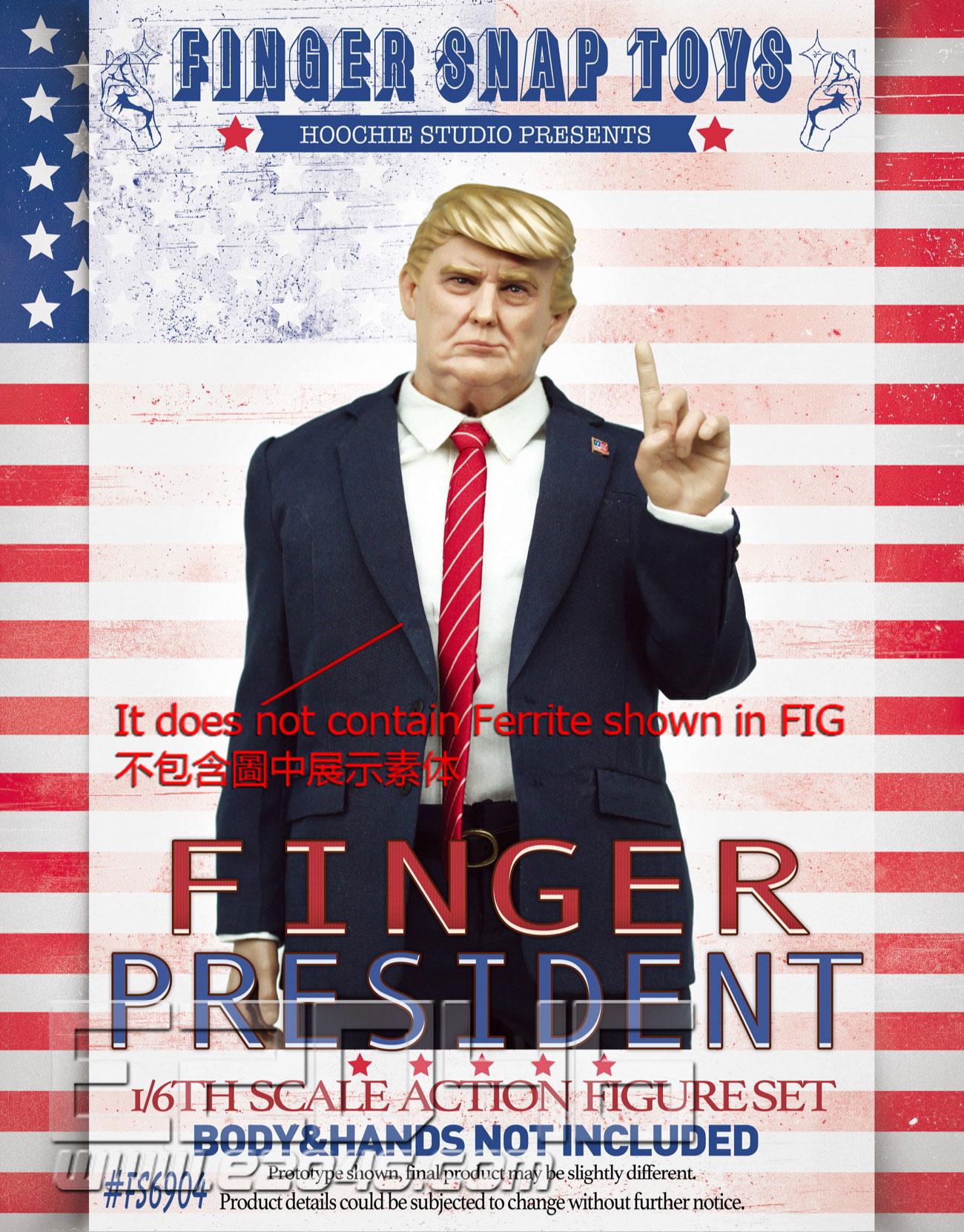 The Finger President Head  Costume Set (DOLL)
