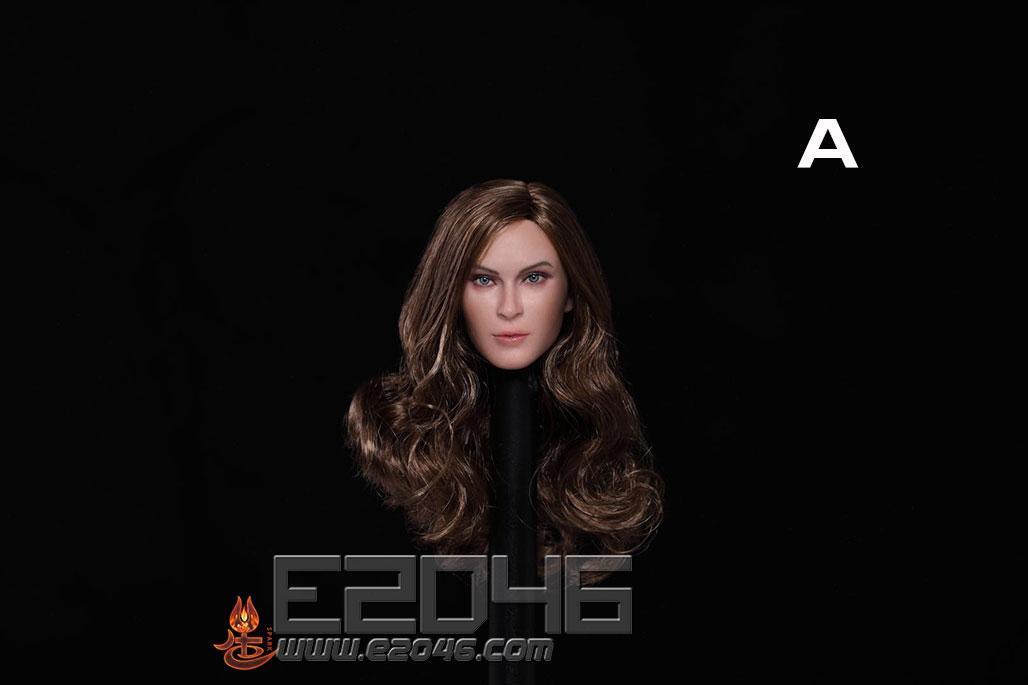 European And American Expression Female Head A (DOLL)