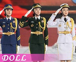 DL2651 1/6 People's Liberation Army Female Costume Suit (DOLL)