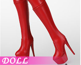 DL2745 1/6 Zip Boot Red (DOLL)