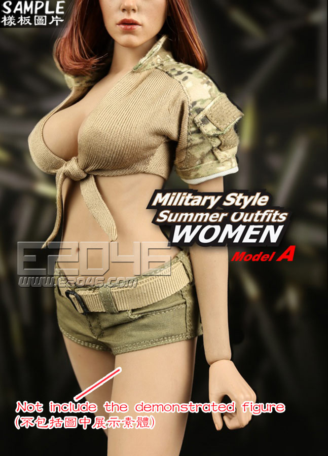 Military Style Summer Outfits  WOMEN A (Doll)