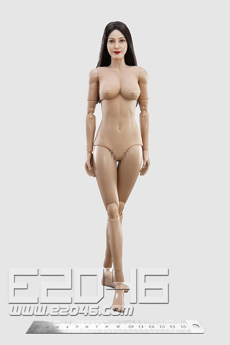 Straight Hair Head Sculpture And Body (DOLL)