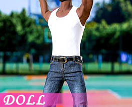 DL3956 1/6 White Vest Jeans Suit (DOLL)