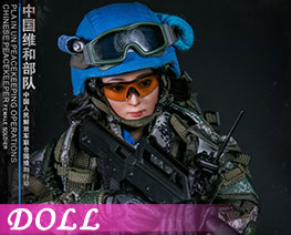 DL2262 1/6 Chinese Peacekeeper Female Soldier (DOLL)