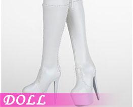 DL2743 1/6 Zip Boot White (DOLL)