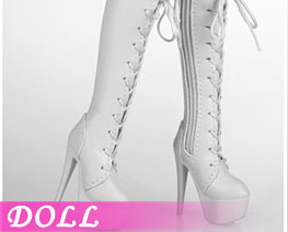 DL2746 1/6 Laces Boot White (DOLL)