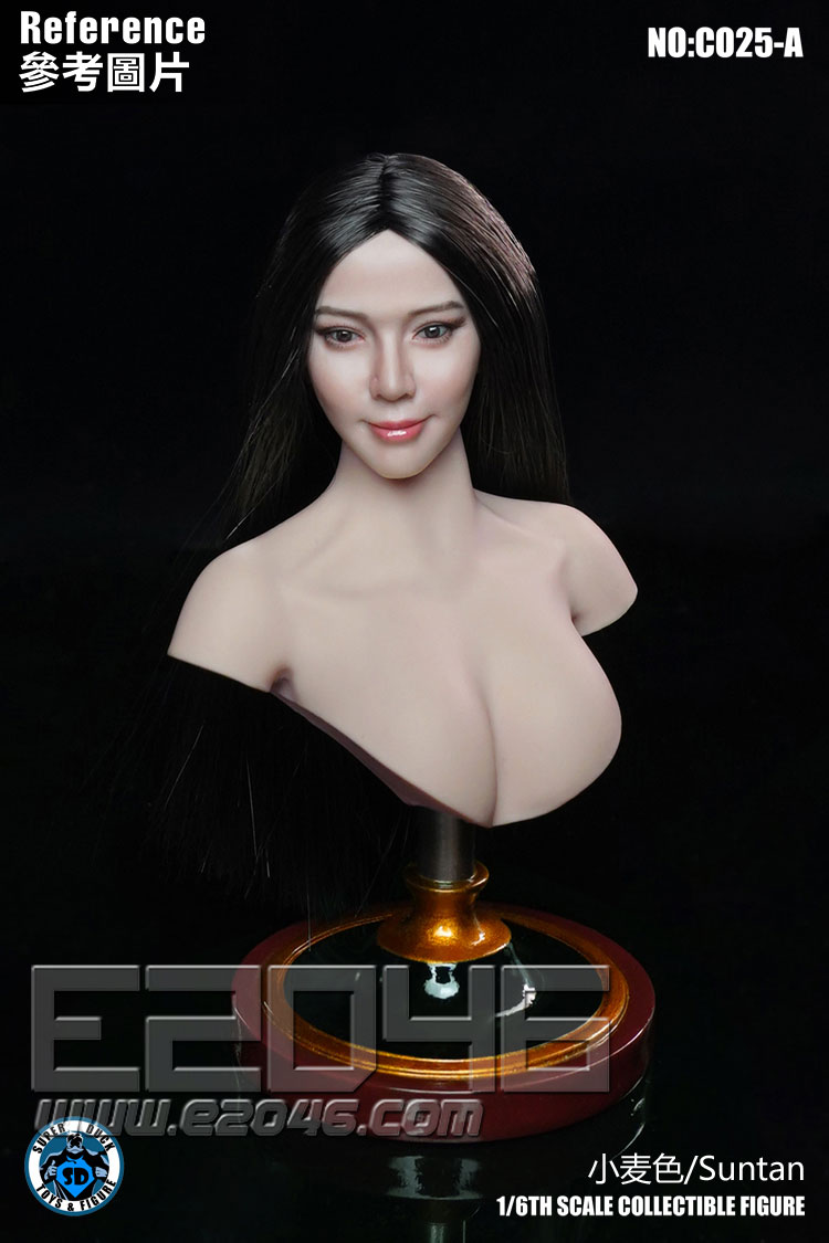 女性胸像地台小麥色 (人偶)