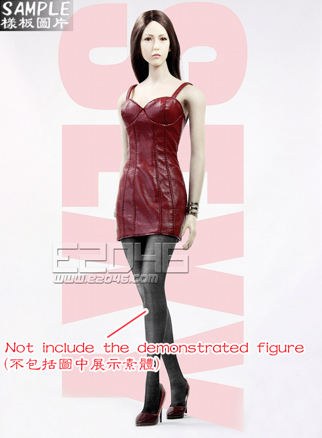 Ladies Sexy Leather Skirt Dress Suit B (Doll)