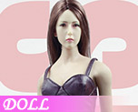 DL0482 1/6 Ladies Sexy Leather Skirt Dress Suit C (Doll)