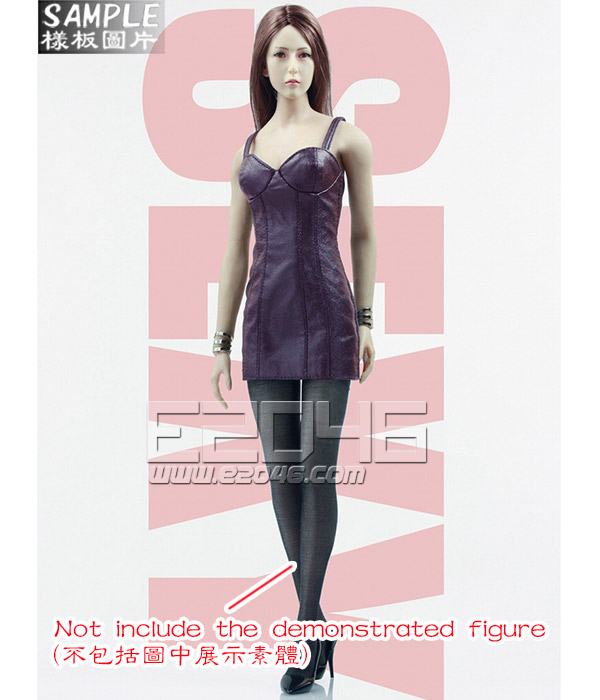 Ladies Sexy Leather Skirt Dress Suit C (Doll)