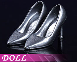 DL2231 1/12 Fashion High Heels Silver (DOLL)