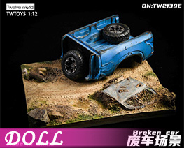 DL4501 1/12 Scrap Car Scene Platform E (DOLL)