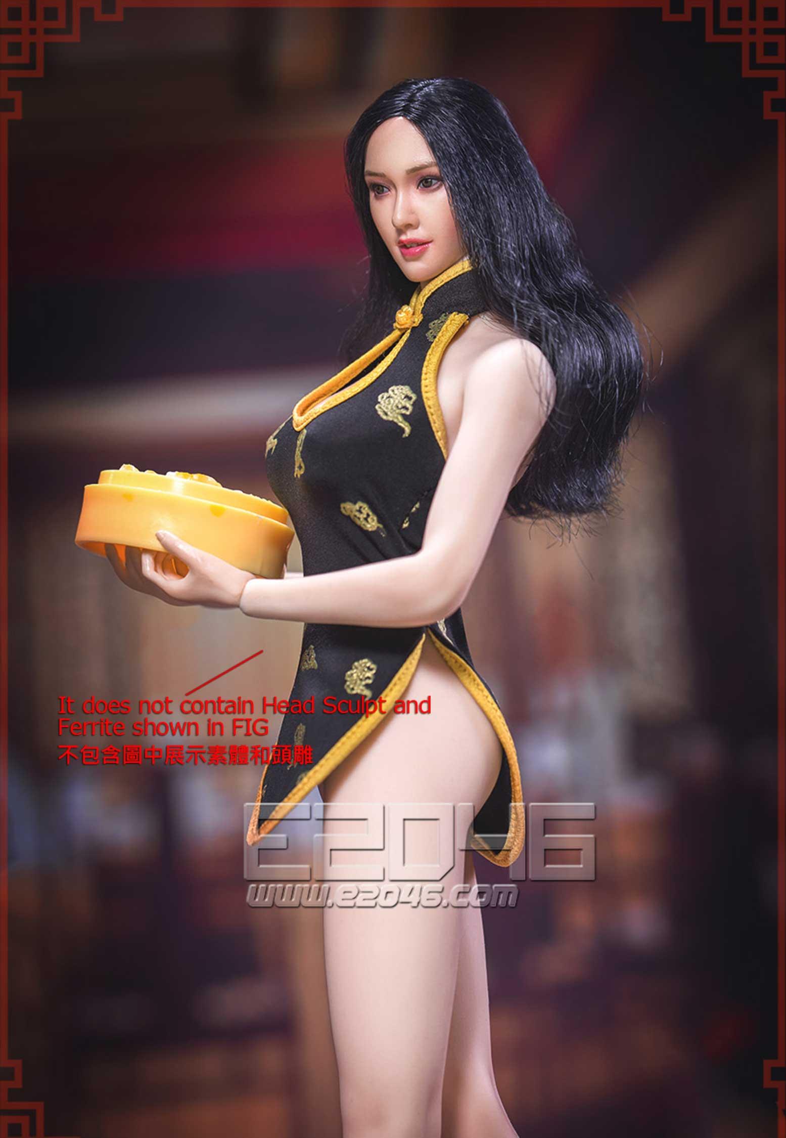 Chinese Restaurant Waitress Ultra Short Cheongsamt E (DOLL)