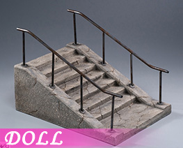 DL4138 1/12 Cement Stairs Scene (DOLL)