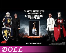 DL4508 1/6 馬耳他醫院騎士與聖殿獅軍團騎士套裝 (人偶)
