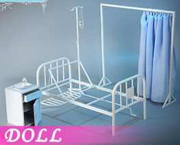 DL3762 1/6 Hospital Bed Scene (DOLL)