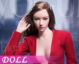 DL1650 1/6 Fashionable deep V-Necktrench coat suit C (DOLL)