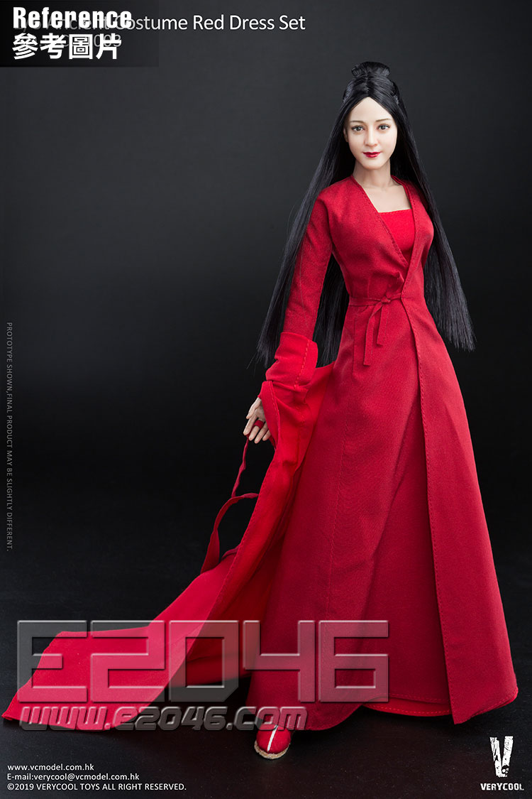 Ancient Costume Red Dress Set (DOLL)