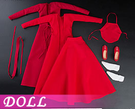 DL2479 1/6 Ancient Costume Red Dress Set (DOLL)
