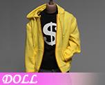 DL0886 1/6 Yellow Hoodie Fashion Apparel Set(Doll)