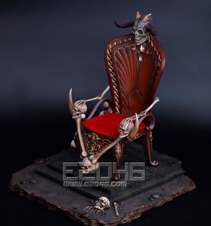 Death's Warrior V2  Action Figure with Base and Throne (Doll)