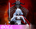 DL1256 1/6 Death's Warrior V2  Action Figure with Base and Throne (Doll)