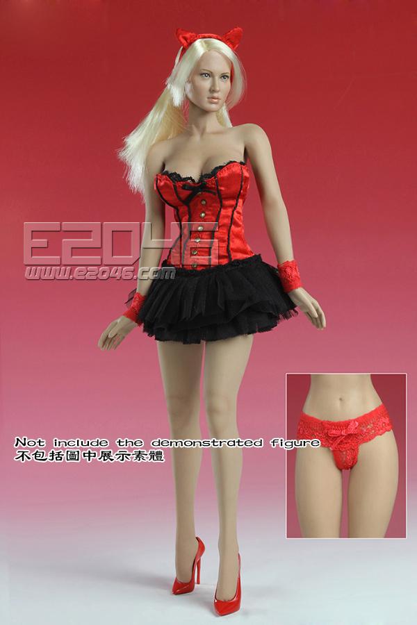 Sexy Basque corset Dress C (Dolls)
