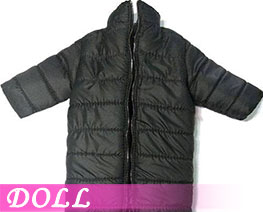 DL3402 1/6 Stand Collar Long Down Coat Black (DOLL)