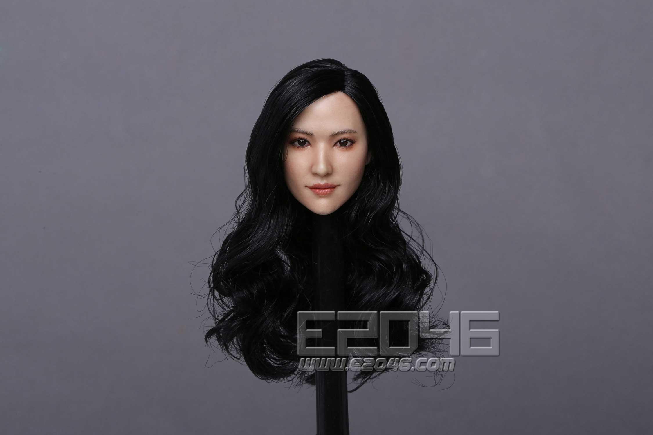 Asian beauty head carving B (DOLL)
