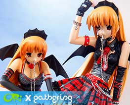 PF5586 1/6 Gothic Dress Devil Girl Set (Pre-painted)