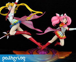 PF10720 1/5 Super Sailor Moon and Chibi Moon Special Version (Pre-painted)