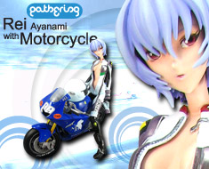 PF3710 1/6 Rei Ayanami with Motorcycle (Pre-painted)